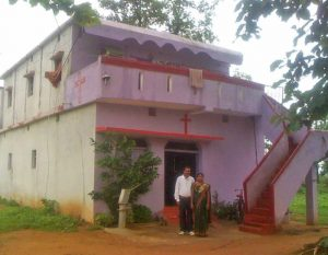 Home of Mahendra Nagdeve, Lanji area, Balaghat district, India